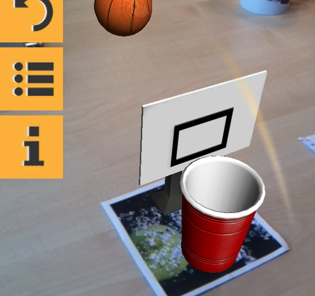 Augmented beer pong