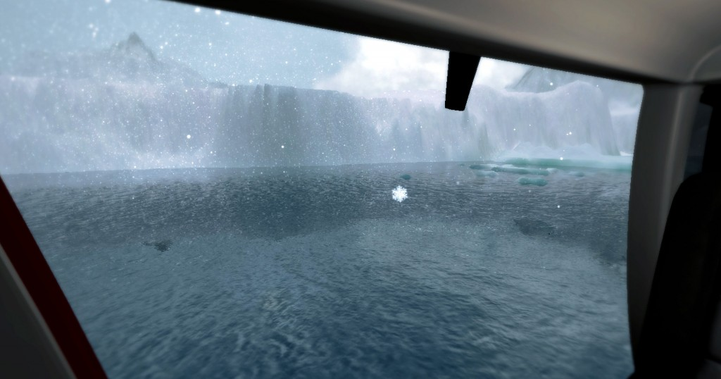 Antarctic helicopter ride on Oculus Rift VR